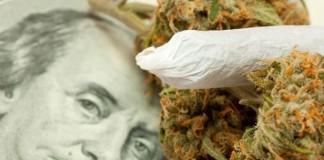 pieniądze ze sprzedaży marihuany