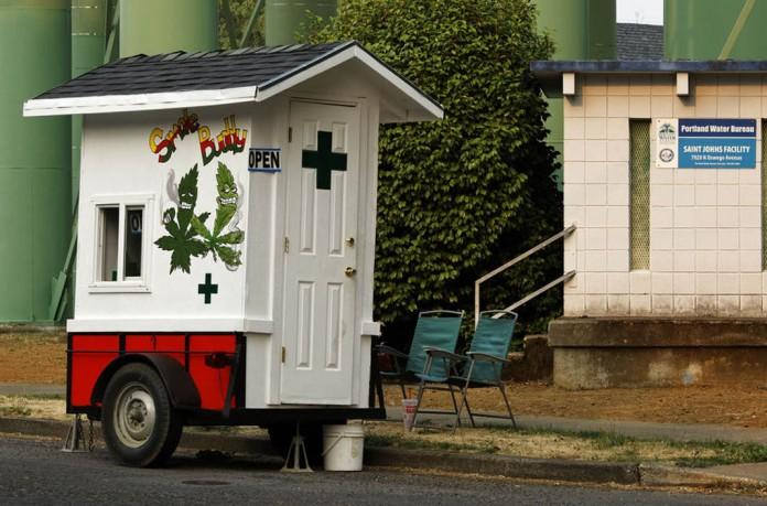 handel obwoźny marihuaną w portland