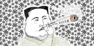 Kim Dzong Un pali zioło