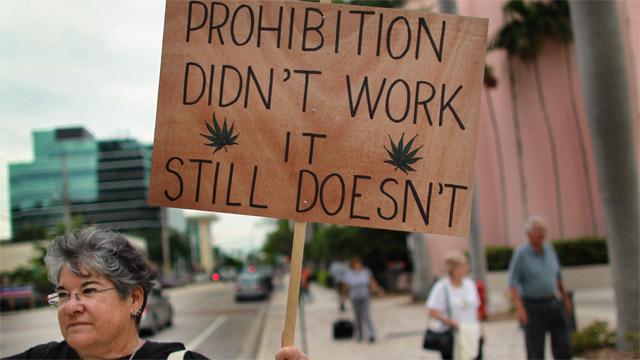 Protest przeciwko konopnej prohibicji