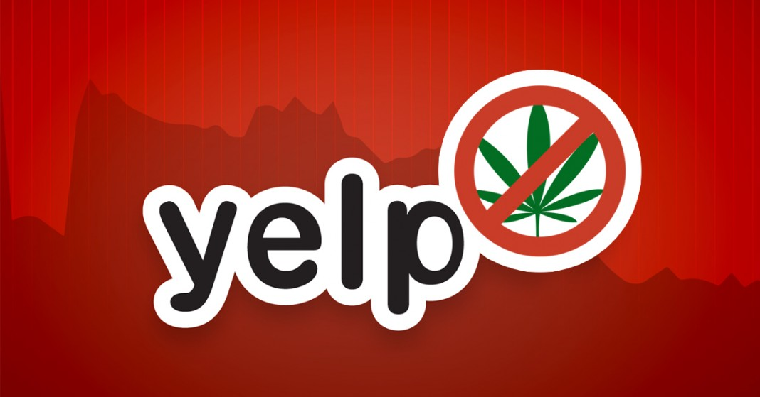 Yelp banuje za marihuanę