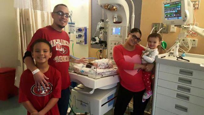 Amylea Nuñez i jej rodzina
