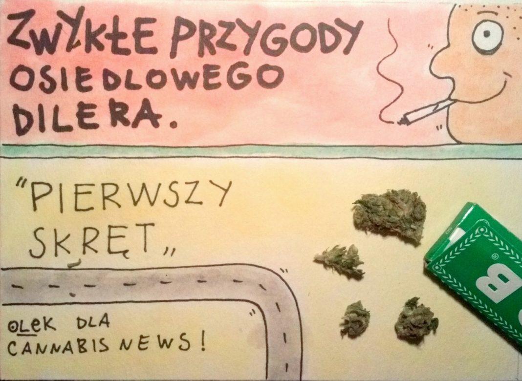 Pierwszy skręt - Zwykłe przygody osiedlowego dilera - Cannabis News