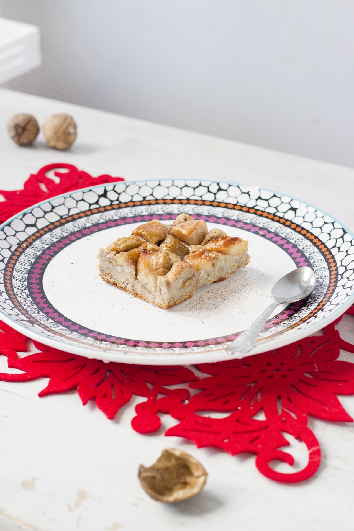 placek jabłkowy z mąką konopną