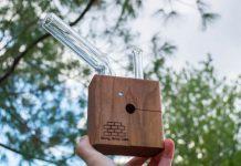StickyBrick waporyzator wykonany w całości z drewna i ze szkła