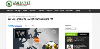 W Wietnamie cieszą się z legalizacji medycznej marihuany w Polsce