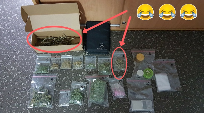 łodygi marihuany w paczkach Nowy Tomysl