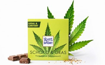 ritter sport czekolada konopna schoko grass marihuana
