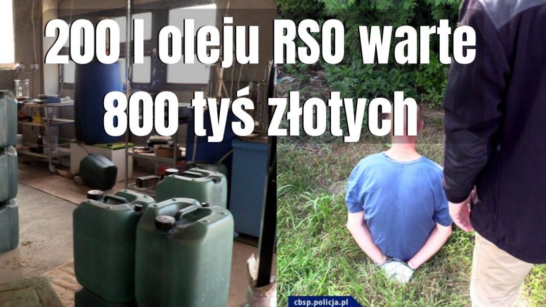 200 litrów oleju RSO warte 800 tyś złotych