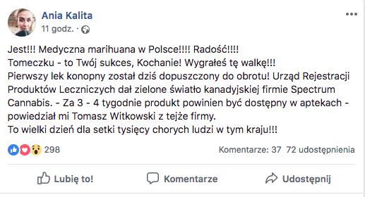Medyczna marihuana dostępna w Polskich aptekach juz za 3 tygodnie