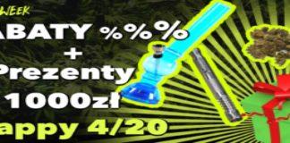 Zniżki rabaty promocje na waporyzator, bongo, susz cbd, nasiona marihuany