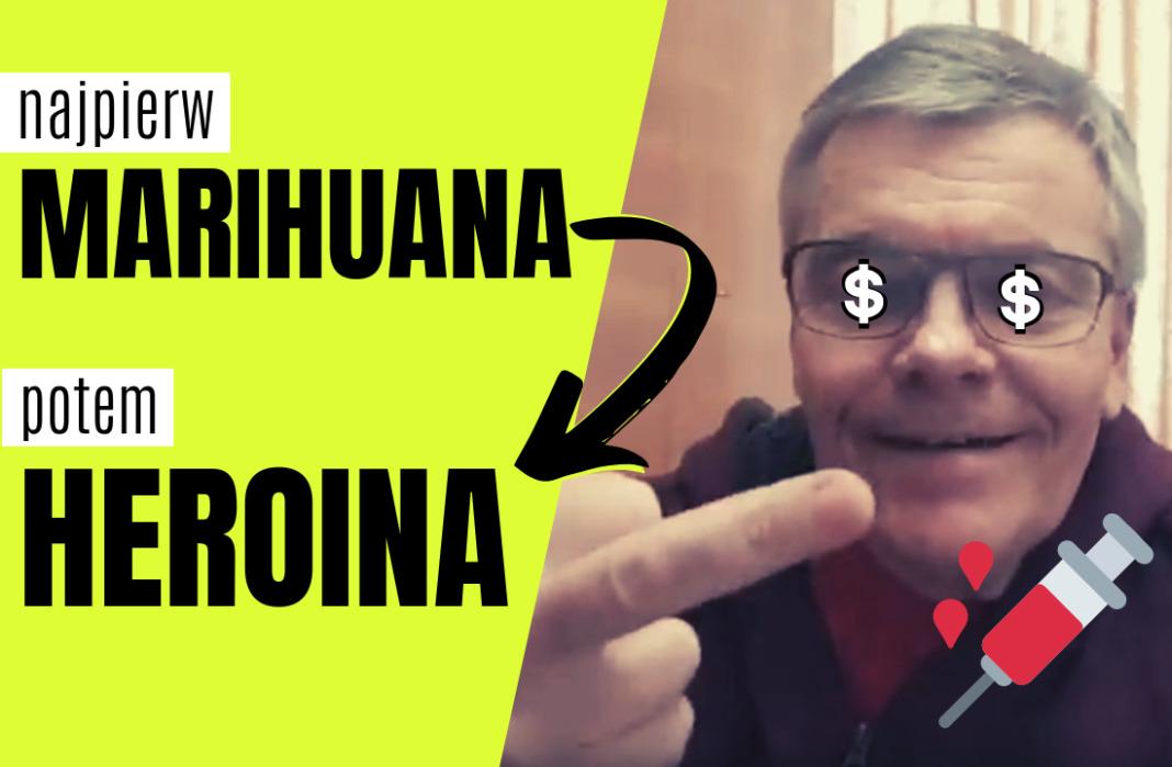Marihuana prowadzi do heroiny - Jacek Kurzątkowski z kanału Jak to Ogarnąć