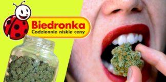 Zjadł słoik marihuany w biedronce