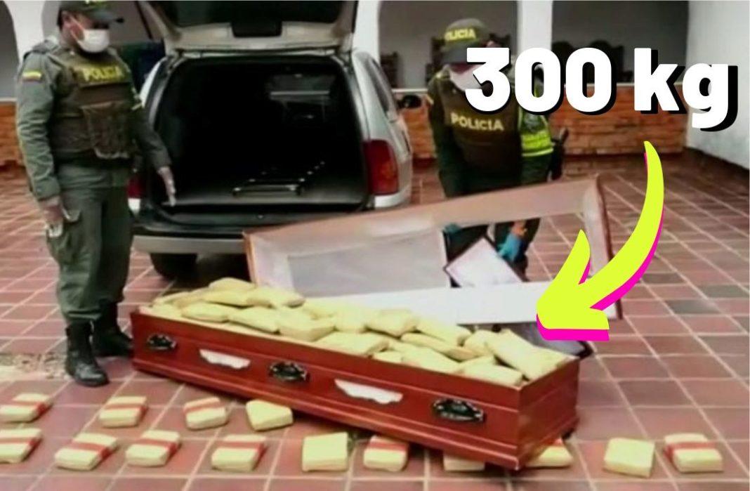 Kolumbia: Policja znalazła 300 kilogramow marihuany w trumnie.