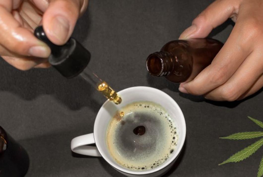 Kawa z olejem CBD