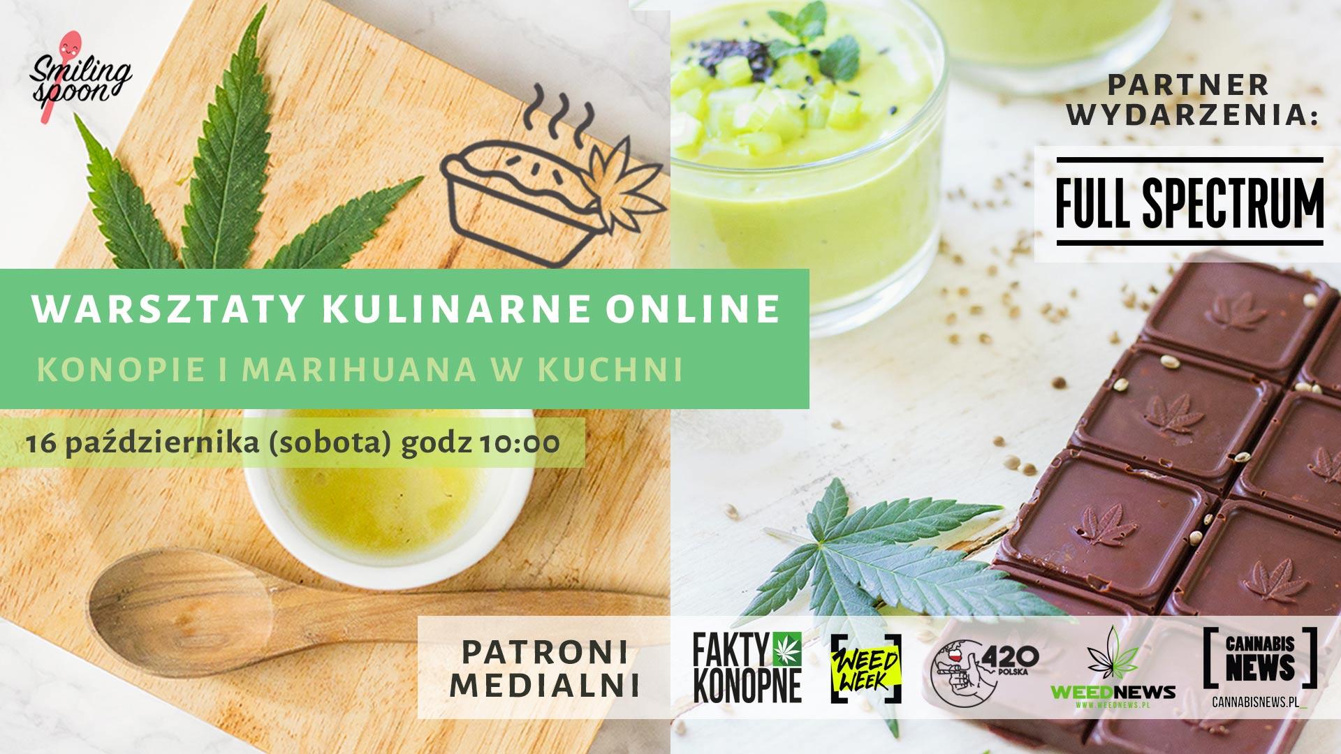 Warsztaty kulinarne Konopie i marihuana w kuchni